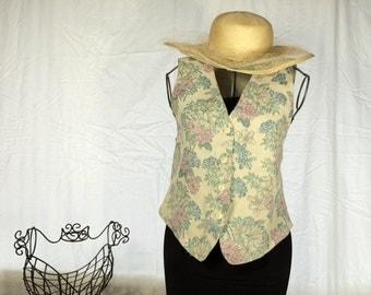 Floral Vintage 90s Grunge Vest