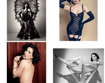 DITA VON TEESE  A quality photoprint of the  beautiful american burlesque dancer ,model & designer
