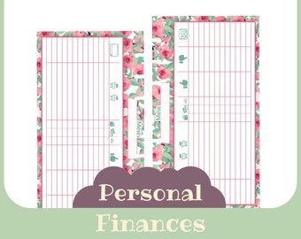 refill finances Personal butterfly style - Printable -