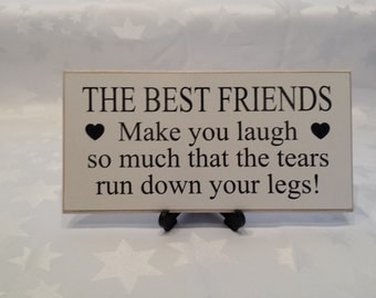 Best Friend Gift Handmade Wooden Sign Christmas Gift Ideas for Friends Shabby Chic Plaque handmade SK Products b027