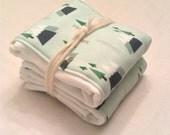 mountain forest burp cloths//burp cloths//organic burp cloths//cloth diaper burp cloths//mint//mountains