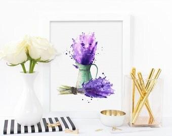 floral print,lavender,watercolor print,graphic print,feminine print,digital print,8x10 print,art printable,instant download