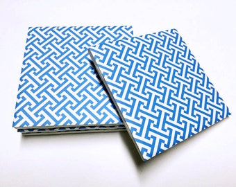 Blue and White Coasters - Home Decor - Drink Coasters - Tile Coasters - Ceramic Coasters - Table Coasters