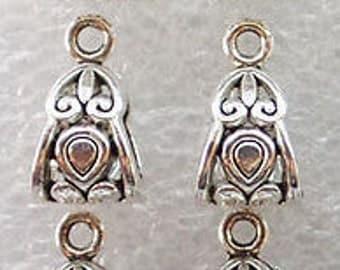 10 silver hollow owl drop charm silver owl charm
