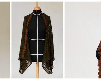 "Kimono jacket ""Elbenwald"" made of knitfabric"