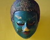 Sale 20% Off // Vintage Indonesian Mask, Vintage Wooden Mask 1960s // Coupon Code SALE20