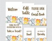 Printable Safari Baby Sho...