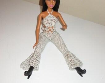 Barbie Doll Clothes Crochet Jumper & Boa