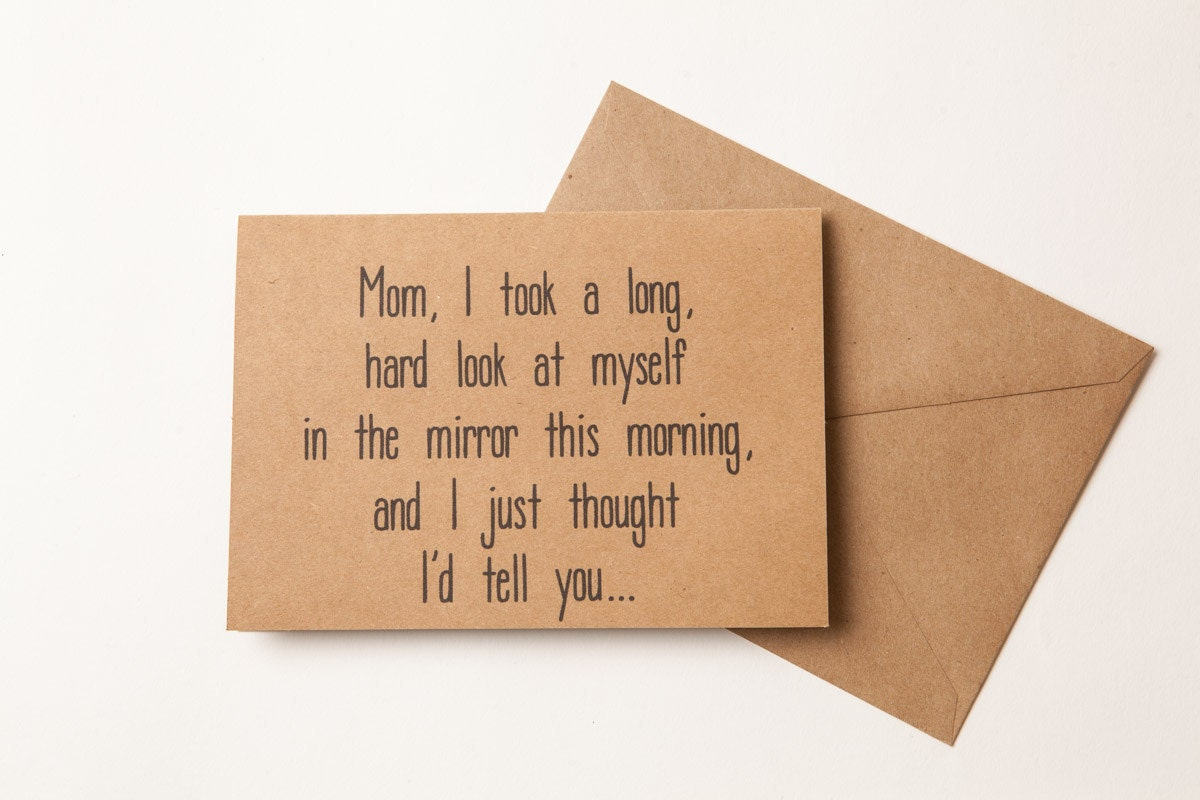 NICE JOB MOM for Birthday Funny Card for Mother To Mom – Birthday Cards for Moms from Daughter