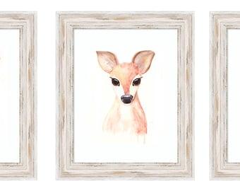 Woodland Nursery Watercolour Suite - 3 prints (8x10 each)