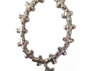Interfaith Cross & Jewish Star Bracelet --- Judeo-Christian jewelry