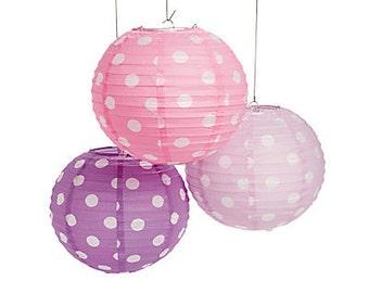 3 / Sweet Pastel Polka Dots Party Lanterns