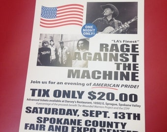 "Ted Nugent/Rage Against the Machine ""Show"" Poster"