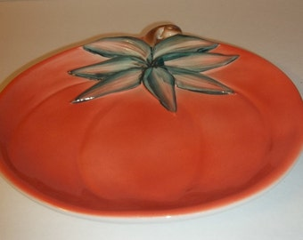 YARD SALE....Halloween / Thanksgiving Pumpkin Plate Made in Italy