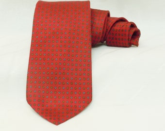 Red Christian Dior men's tie