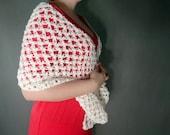 Wedding shawl, crochet shawl, white scarf, white shawl, solomon scarf,lace shawl, creme ecru scarf, shawl wrap, winter wedding