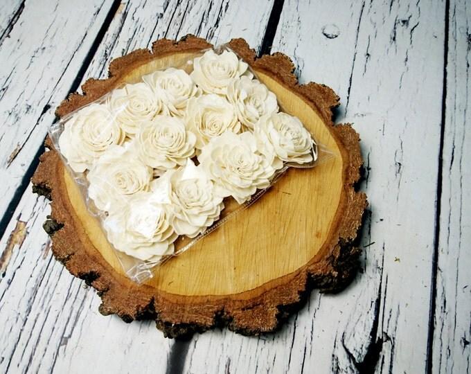 Sola Flowers, Wedding Flowers white ivory brown diy bouquet floristic supply natural flowers rustic palash 12 pcs 8cm favour table decor