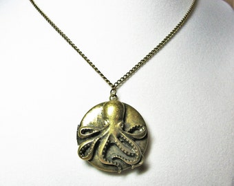 3D Octopus Locket Necklace