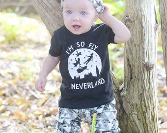 I'm So Fly I Neverland Newborn Bodysuit Outfit Halloween Tshirt Lostboys Neverland Shirt Trendy