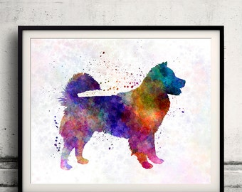 Thai Bangkaew Dog 01 in watercolor - Fine Art Print Glicee Poster Decor Home Watercolor Gift Illustration dog - SKU 1582