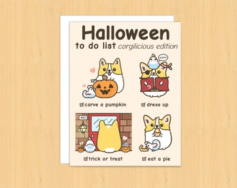 halloween cards funny halloween card halloween gifts halloween greeting cards corgi cards - Photo Halloween Cards