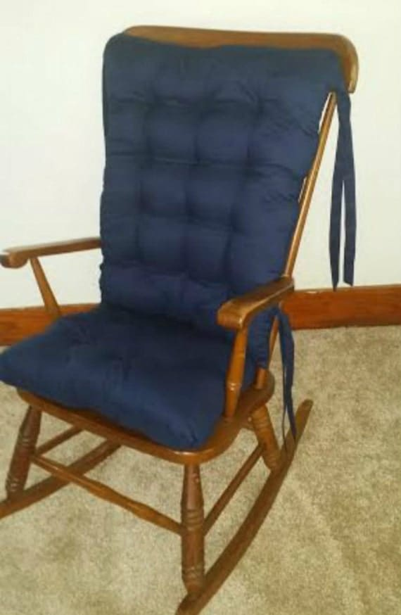 Items Similar To Solid Navy Custom Rocking Chair Cushions Glider Replacement