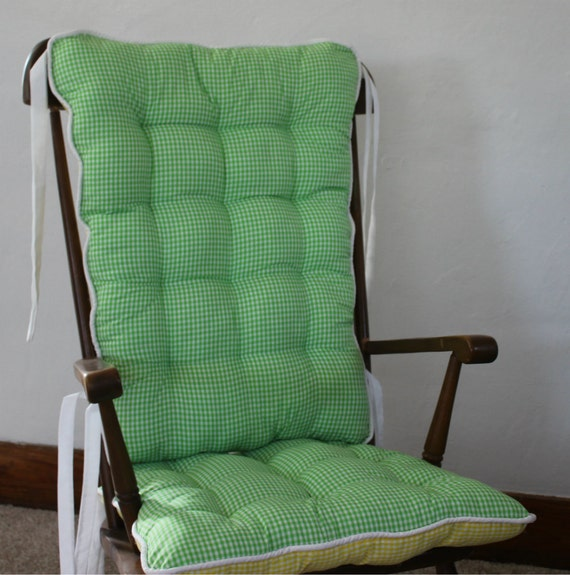 gingham rocking chair cushions rocking chair pads glider