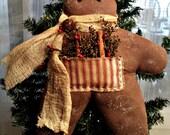 Primitive Gingerbread Man - Handmade - FAAP, HAFAIR, OFG, TeamHaHa