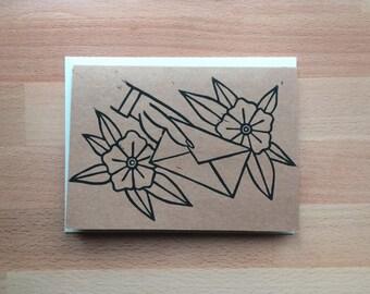 Dear John Letter (Single) Handprinted Greeting Cards