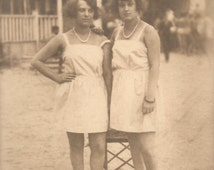 1920s Porn The Flapper Beach u2026 1920s Original Vintage RARE Real Photo Postcard RPPC u2026 Fancy Women Couple