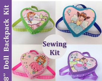 Sewing kit for making 18 inch doll backpack. Fits 18 Inch Dolls like American Girl, Maplele and Gotz.
