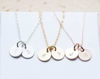 Dainty Gold Silver Rose Charm Personalized Necklace Personalized Womens Dainty Necklace Personalized Jewelry Personalized gift for Women