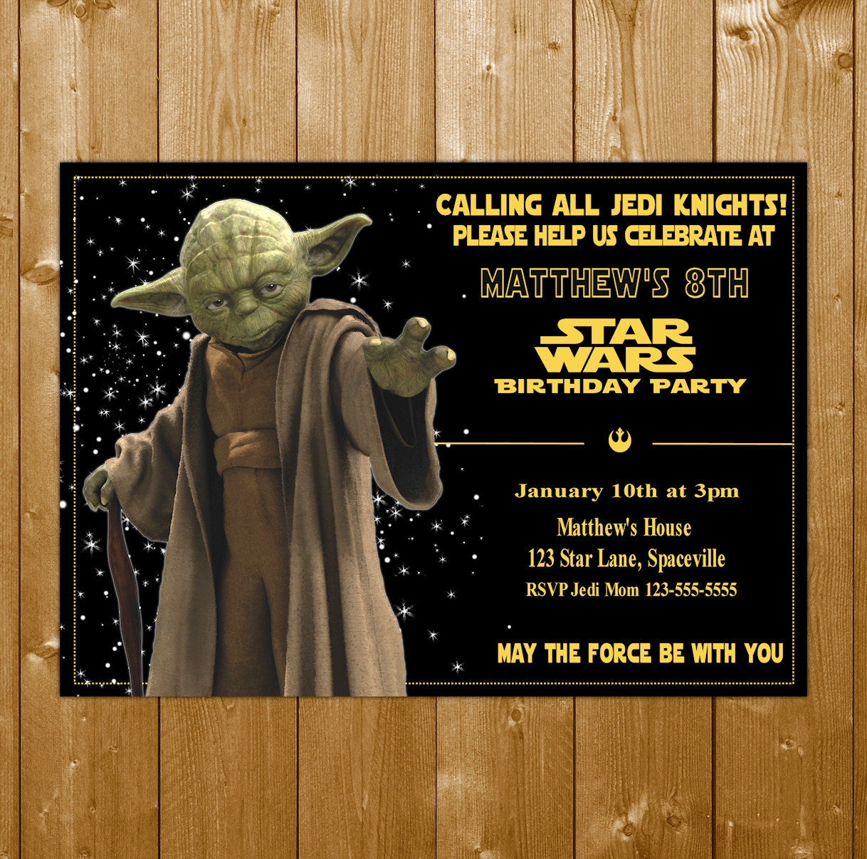 Yoda invitation star wars invitation star wars yoda invitation yoda invitation star wars invitation star wars yoda invitation star wars party invitations free thank you note stopboris Images