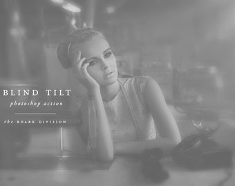 """Black & White Photoshop Action Instant Download """"Blind Tilt"""" Photoshop Photographer's Action Photoshop Tools for Photographers"""