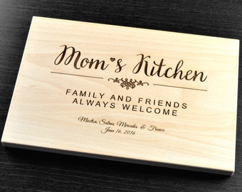 Mother's Day Gift, Personalized Cutting Board, Engraved, Custom Cutting Board, Personalized Wedding Gift, Mother's Day, Mom's Kitchen, Mom