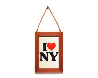 I LOVE NY, New York Magnet, Cubicle Decor, Office Gift, Thank You Gift, Small Gift, Gift For Him, Gift For Her, Fridge Magnet, New York