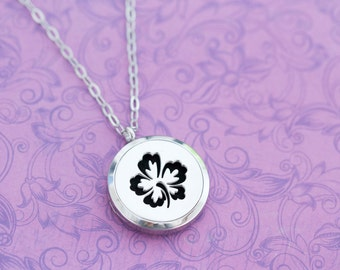 Essential Oil Locket - Doterra - Young Living - Essential Oils - Essential Oil Diffuser Necklace - Plumeria - Engraved Jewelry