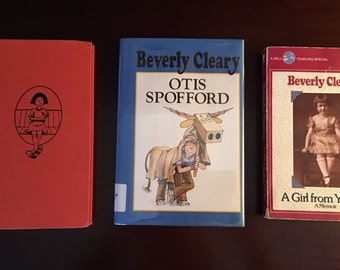 Beverly Cleary Otis Spofford, Ramona Forever HC, Ramona the Pest HC, Girl From Yamhill Collectible Vintage Books