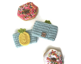 Pineapple Cozy, Crochet Cup Cozy, Pineapple Cup Cozy, Coffee Cozy, Drink Cozy, Coffee Sleeve, Cup Sleeve, Fruit Cozy