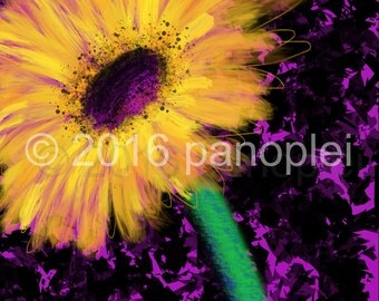 Printable Artwork Abstract Flower Daisy Digital Download Art Instant Download by J. Travis Duncan - panoplei