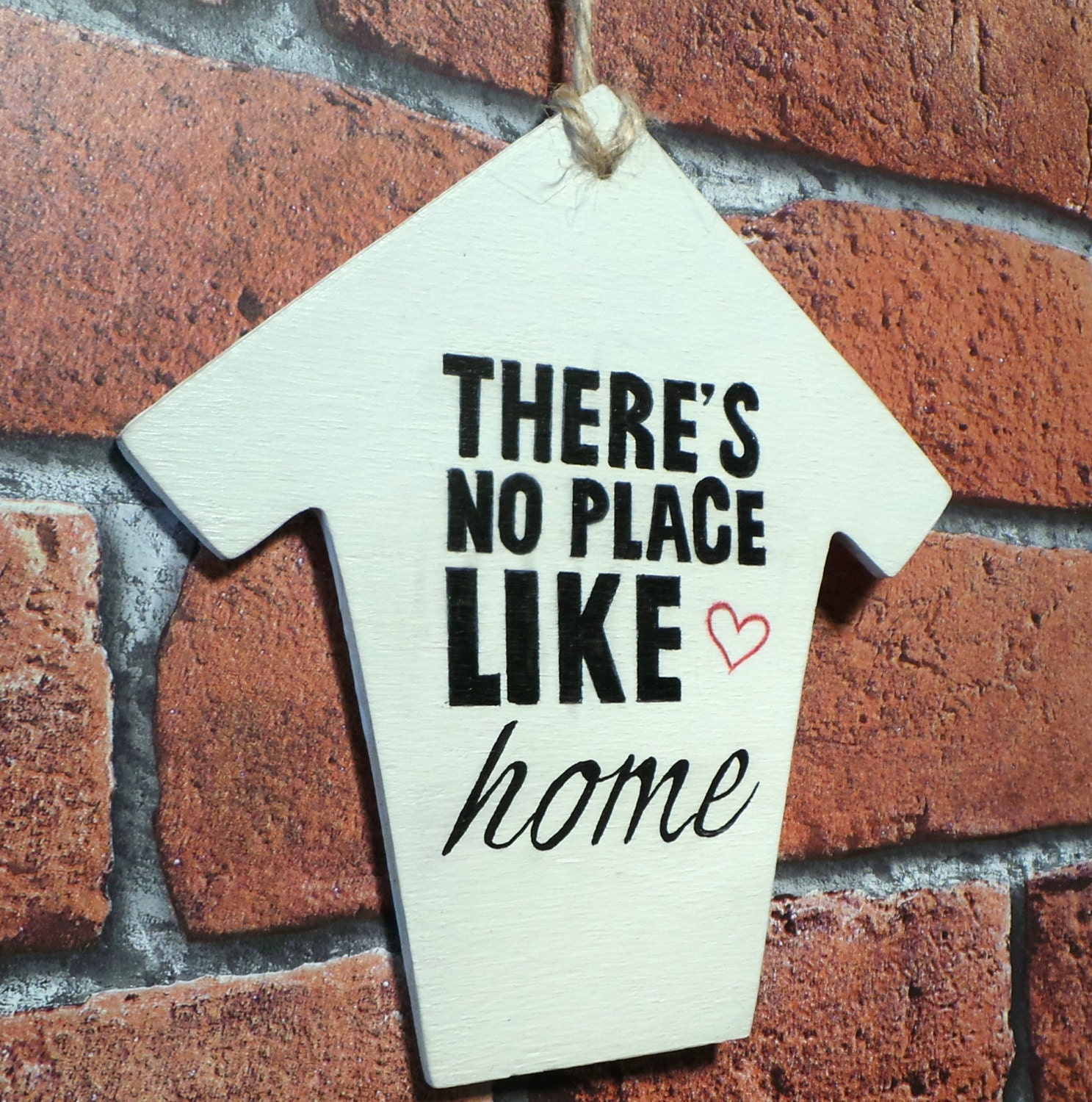 There's No Place Like Home Vintage Wooden Wall Art