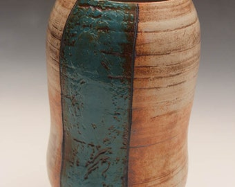 Vase with Turquoise Stripe