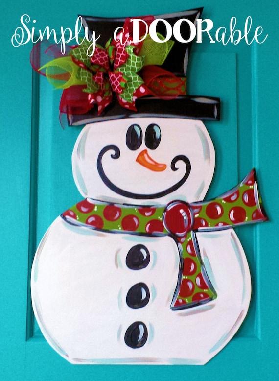 Snowman Wood Door Hanger By Simply Adoorable Frosty Door
