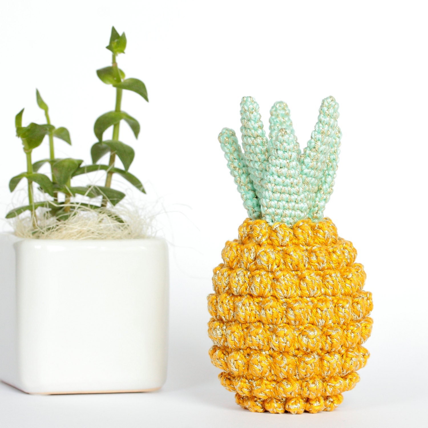 Crochet pineapple decor pineapple home decor pineapple Ananas dekoration
