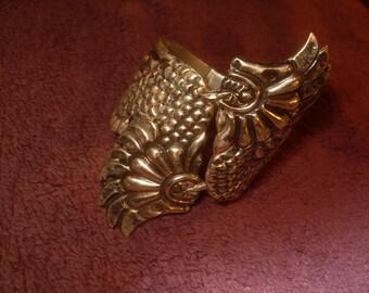 1940's Mexican Aztec Sterling Silver Bracelet
