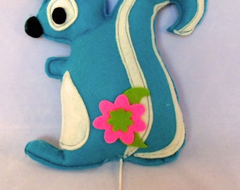 music box squirrel (blue)