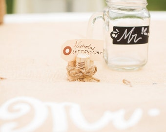 Set of 10 - Wine Cork Place Card or Photo Holder
