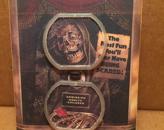 Creepshow Movie Poster Electrical Outlet Cover - Handmade - Stephen King - George Romero - Horror