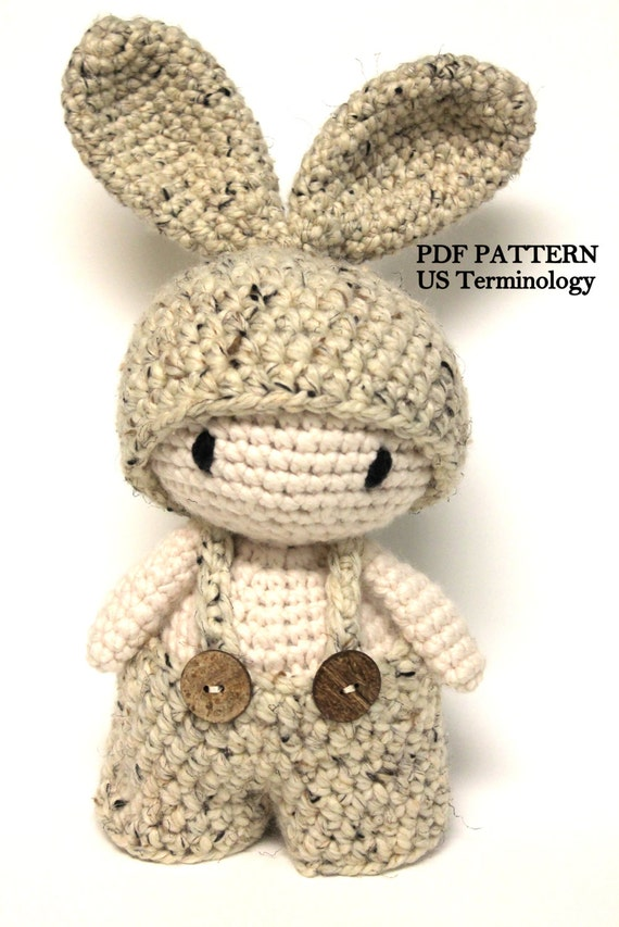 Amigurumi Rabbit Tutorial : Crochet chunky bunny amigurumi rabbit super by