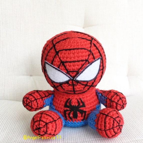 Crochet Amigurumi Spiderman : Crochet yarn Spiderman Spider net Spiderman logo Amigurumi
